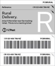 NZ Post_Excess Ticket_Rural_PCBRURAL
