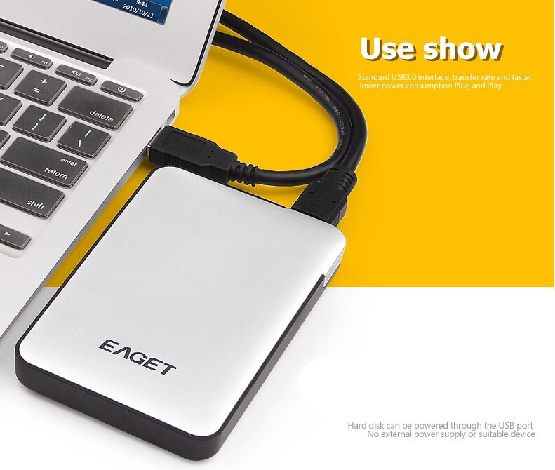 2TB USB 3 0 High Speed External Hard Drive  Portable