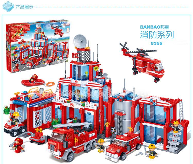 Lego Toys For Boys : Extra large fire station pcs orari nursery online