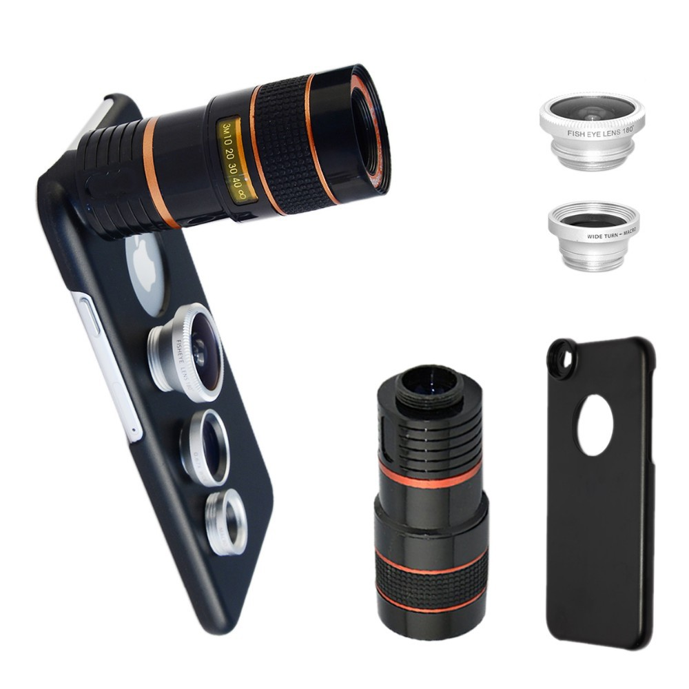 Iphone 6p 6sp 8x Telephoto Zoom Lens Fish Eye Wide Angle