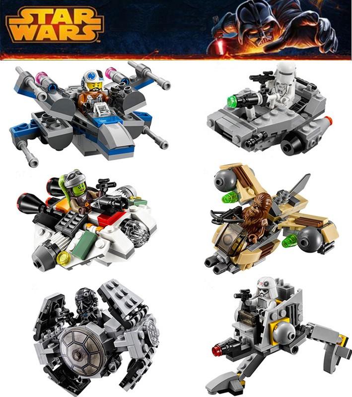 Star Wars Warship Spaceship Micro fighters. Set of 6 | Orari Nursery ...